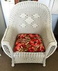 American Vntage Rare White Wicker Rocking Chair Rocker Heywood Wakefield
