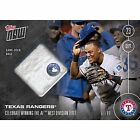 2016 Topps NOW 498B Texas Rangers Clinch AL West Base GU RELIC 99 Adrian Beltre