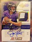 2014 Absolute Joe Flacco Tools of the Trade 2 Color Patch Auto #d 1 5 Ravens