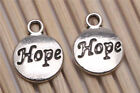 Wholesale 200pcs Tibetan Silver Craft Hope Round Charms Pendants Jewelry Making