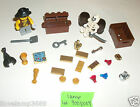 LEGO Pirate Minifigure Treasure Map KEY SCORPION Gold Jewel skull 4SET 6243 6290