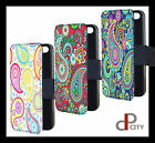 Paisley pattern phone case cover flip wallet gift present iphone  Samsung