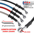 500mm-2000mm Motorcycle Braided Stainless Steel Brake Clutch Oil Hoses Line Pipe
