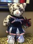 SNOW LEOPARD Teddy Cat BUILD A BEAR 16 NE Patriots Cheerleader Football NWT