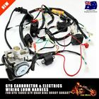 Carby Carburetor  Electric Engine Wiring Harness For GY6 150cc Quad ATV