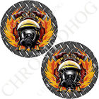 Medallion Decal Insert Set for Harley Brembo Brake Calipers - DP Fire Fighter FD