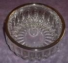 Vintage serving bowl Silver Plated rim Made in England diamond Bowl  5 5/8