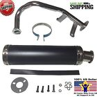 Scooter Performance Exhaust 50cc GY6 Black