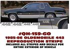 Ge-qh-159 Or 242 1985 1986 1987 Oldsmobile - 442 Reproduction Stripe Decal Kit