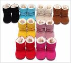 Toddler Infant Baby Girl Boys Fur Warm Shoes Soft Cotton Boots Prewalker