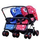 Hot Sale Twin Baby Pushchair Newborn Double Seat Stroller Kid Pram Travel System