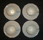 4 Mikasa Flower Basket White Cup and Saucer Sets