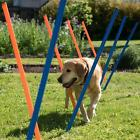 Fun Sport Dog Agility Weave 12x Poles Dogs Training Metal Tips Garden Park Pet