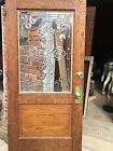 An One Antique Beveled Glass Oak Entrance Door 40