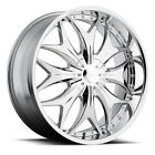 Fits CHEVROLET AVALANCHE Wheels Rims DOLCE DC21 22x95 6x1143 6x1397 Chrome