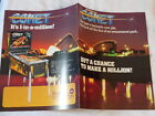1985 WILLIAMS COMET PINBALL 4-PAGE FLYER NOS