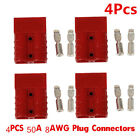 4 X Battery Quick Connect Disconnect Plug 50A 8AWG Winch Trailer Boat Connector