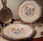 Vintage Fitz & Floyd Jardin de Chine Decorative Octagon (Salad) Plates Set (2)��