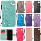 Fashion 3D Bling Strass Flip Patterned PU Leather Card Pocket Stand Case Cover 1