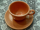 Retired Fiesta Apricot Cup and Saucer ~ Fiestaware (1986-1998)