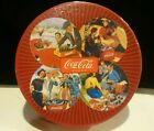 SAKURA SET OF FOUR COCA-COLA STONEWARE SALAD / DESSERT PLATES IN BOX