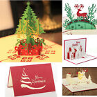 5pc Lot 3D Pop Up Christmas Cards Creative Origami Greeting Card Papercraft Gift