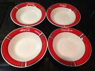Set of 4 Coca Cola Dinnerware Soup/Salad/Cereal BOWL 8