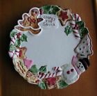 RARE 1992 FITZ & FLOYD CHINA PLATE NUTCRACKER SWEETS FOR COOKIES