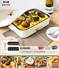 New BRUNO Compact Hot Plate White BOE021-WH AC100W Grill Takoyaki DHL Free ship