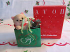 Vintage~HOLIDAY FRIEND~CAT IN BAG ORNAMENT ~from Avon Gift Collection~NIB