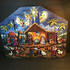 Nativity Advent Calendar Box Wooden Traditions by Byers Choice 15x17x35