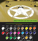 JEEP Army Star Hood Decal w 2 FREE Side Fender sticker vinyl Military any color