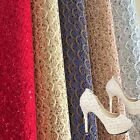 Sparkle Lace Scalloped Chunky Glitter Fabric Vinyl Craft Upholstery Material