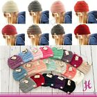 New CC Beanie Kids Twotone Beanie Mix Trendy Simple Winter Solid Cable Knit Hat