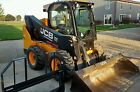 Very nice 2014 JCB 300eco Heat Ac Skid Steer Loader Diesel Snow pusher 92hp