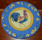 FITZ & FLOYD COQ DU VILLAGE BLUE ROOSTER SALAD PLATE NEW WITH PRICE TAG RARE!