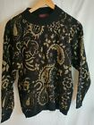 Vintage Bel Ami Womens Sweater Size Med Excellent Gold Pattern Made in USA