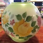 Vintage GWTW Hand painted top Lamp Globe Floral