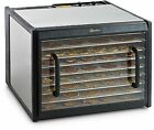 Stainless 9 Tray Dehydrator With Timer And Stainless Trays And Clear Door