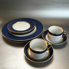 Lot Fitz & Floyd RENAISSANCE CERULEAN BLUE Dinner & Side Plates Cup & Saucers