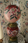 Antique Success GWTW Parlor Lamp Hand Painted Lily Ball Shade Complete