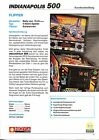 Indianapolis 500 Pinball German Flyer/Ad/Brochure - Rare Version - Mint
