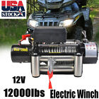 Electric Wireless Self Recovery Winch for Jeep Truck SUV Remote Control 12000lb