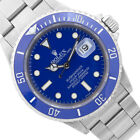 40mm Blue Rolex Submariner 16610 Stainless Steel Ceramic Watch Solid End Link