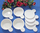 Lot of 4 CORNING WARE White Grab It Bowls P-150-B With New Lids  WONDERFUL Cond!