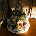 Fitz & and Floyd The Flurries Snowman Birdhouse Cookie Jar Canister