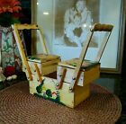 Unique Novelty Gift! Vintage 40s earlier? Handpainted wood LADDER box purse vlv