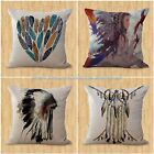 throw pillow case for sofa set of 4 cushion covers American native feather