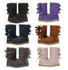 NEW UGG Australia Womens Bailey Bow II Winter Boots Shoes Black Chestnut Blue