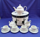 ELEGANT JOHNSON BROS. REGENCY WHITE 13 PIECE TEA SET COMPLETE SERVES 4 W/ BOX